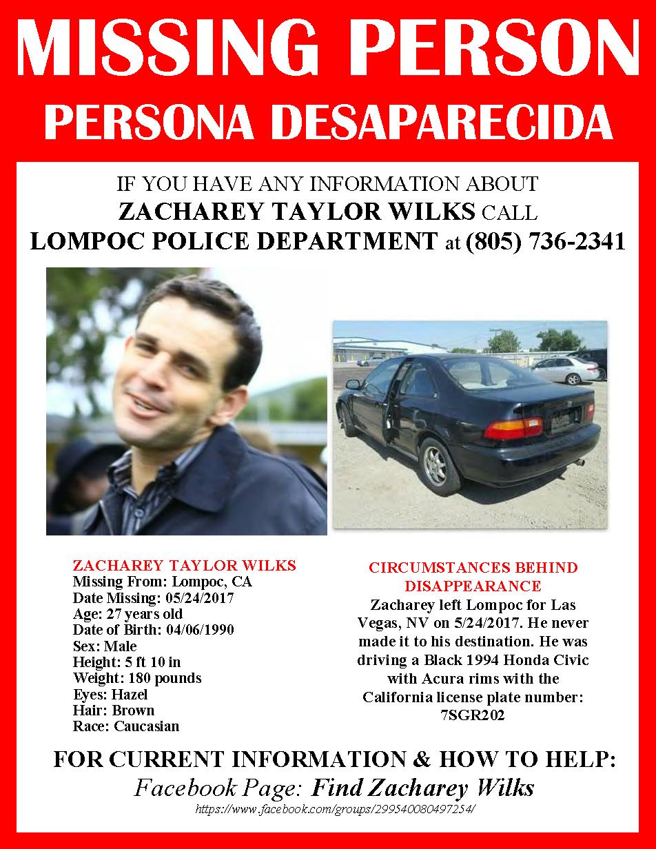 Help find Zacharey Wilks – California Labor Federation
